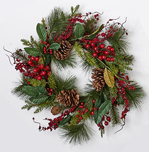 22' Holiday Christmas Wreath (Worth Imports 22