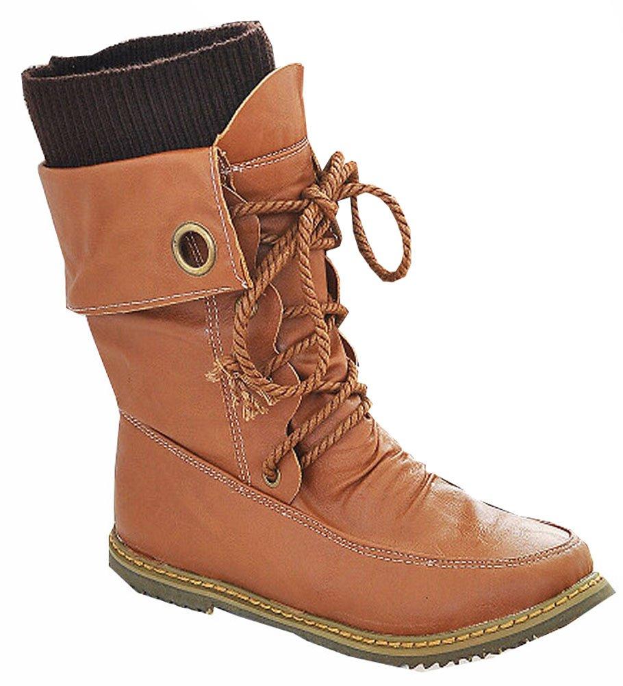 moto 41,5 pour de la mode Martin bottines en pour femmes, appartements bottes de neige d hiver en cuir bottes chaussures taille plus 34,5 à 41,5 Jaune d5e2e60 - reprogrammed.space