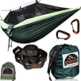 Sleep Bug Free in Our GoRoam Outdoors Camping Hammock with Mosquito Net. The Ultimate Lightweight RipStop Hammock with Bug Net and Straps System, Perfect for Camping, Hiking, Travel, Backpacking, Emergency Survival & Adventures!  The Complete Ham...