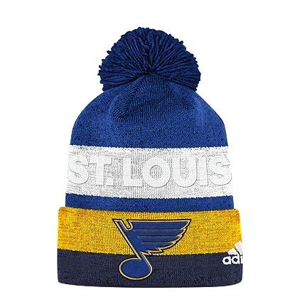 cf8eb9d4c13 Amazon.com   adidas St. Louis Blues Pro Collection Juliet Pom Knit ...