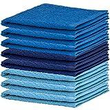 DecorRack 8 Pack Kitchen Dish Towels, 100% Cotton Wash Cloth, Luxurious Soft, 12x12