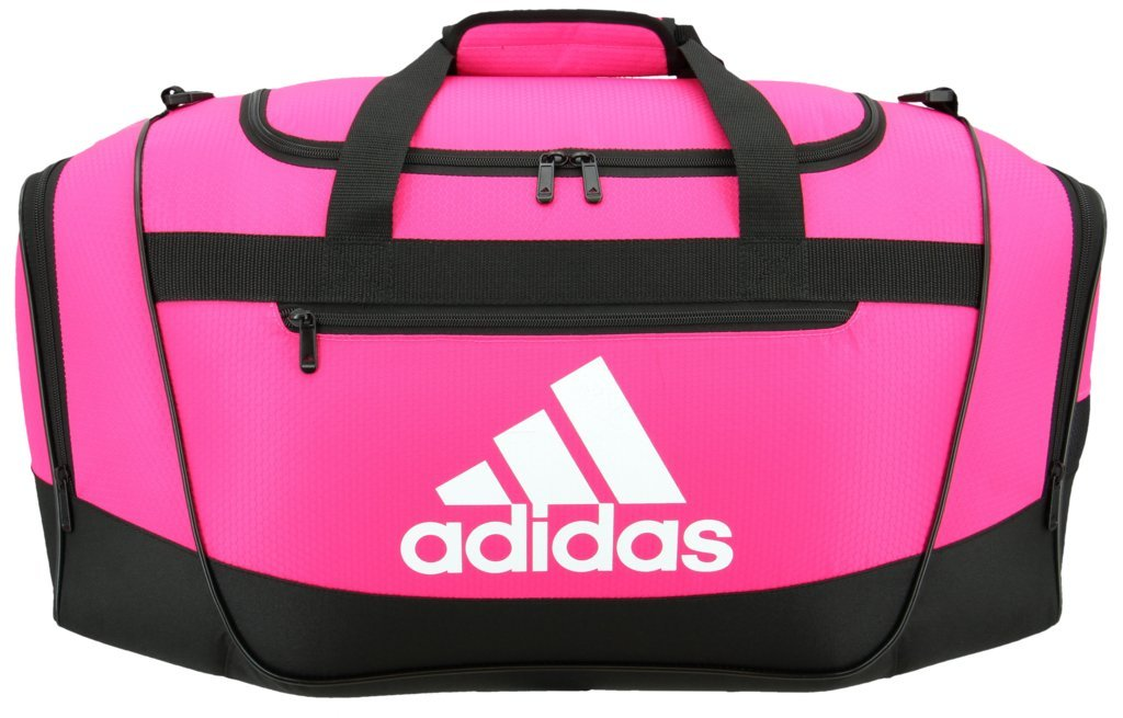 adidas Defender III Small Duffel, Shock Pink/Black/White, One Size