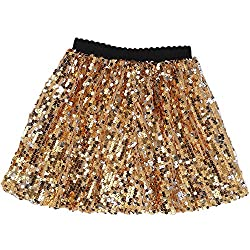 Mini Gold Sequin Skirt