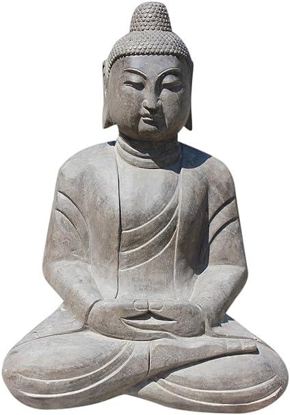Asien LIFESTYLE GRANDES Jardín Buda Estatua AUS piedra natural para China Jardín: Amazon.es: Hogar