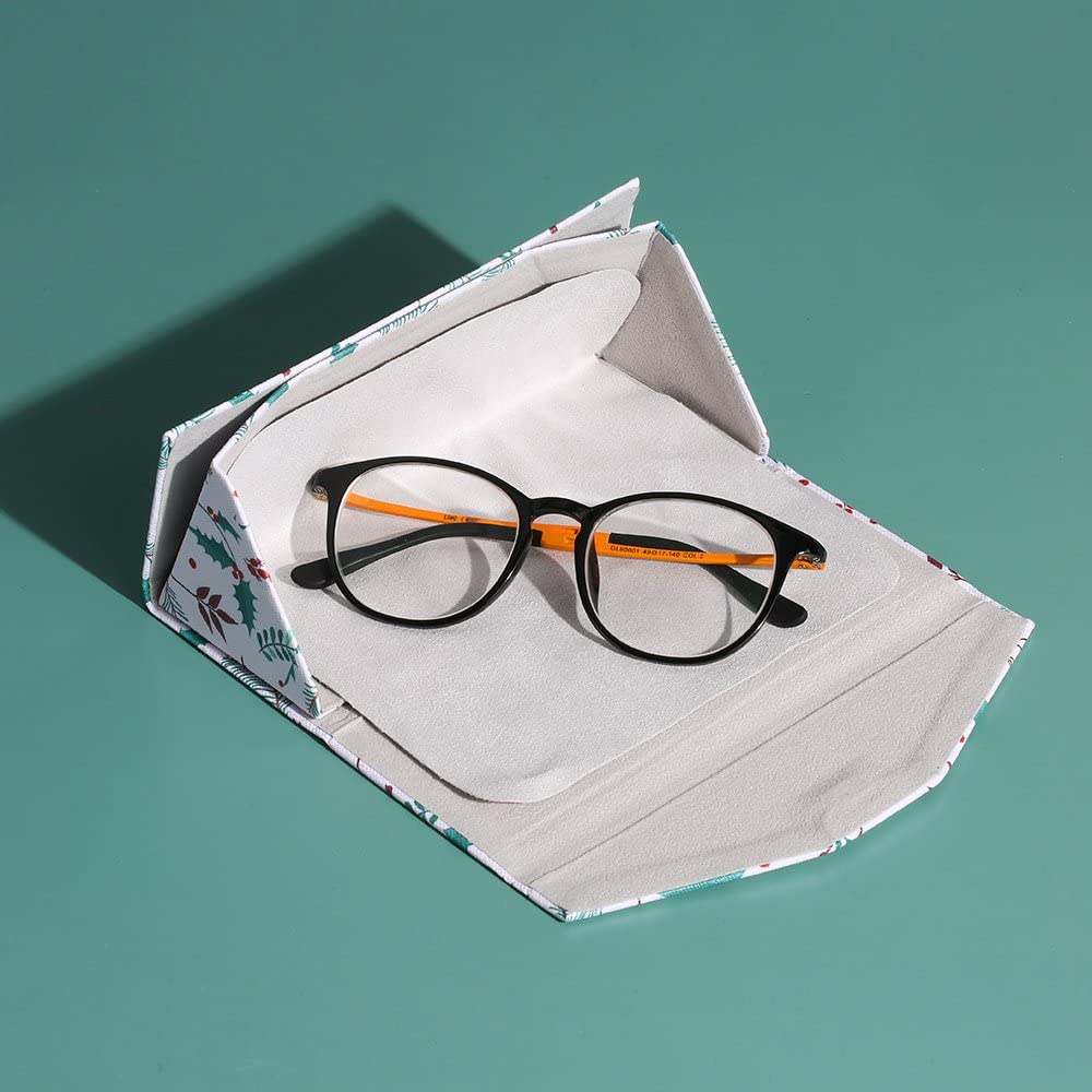 Multi color glasses case myopic glasses box+clean cloth+tools MITIME Lovely Foldable Glasses Case Magnet Closure