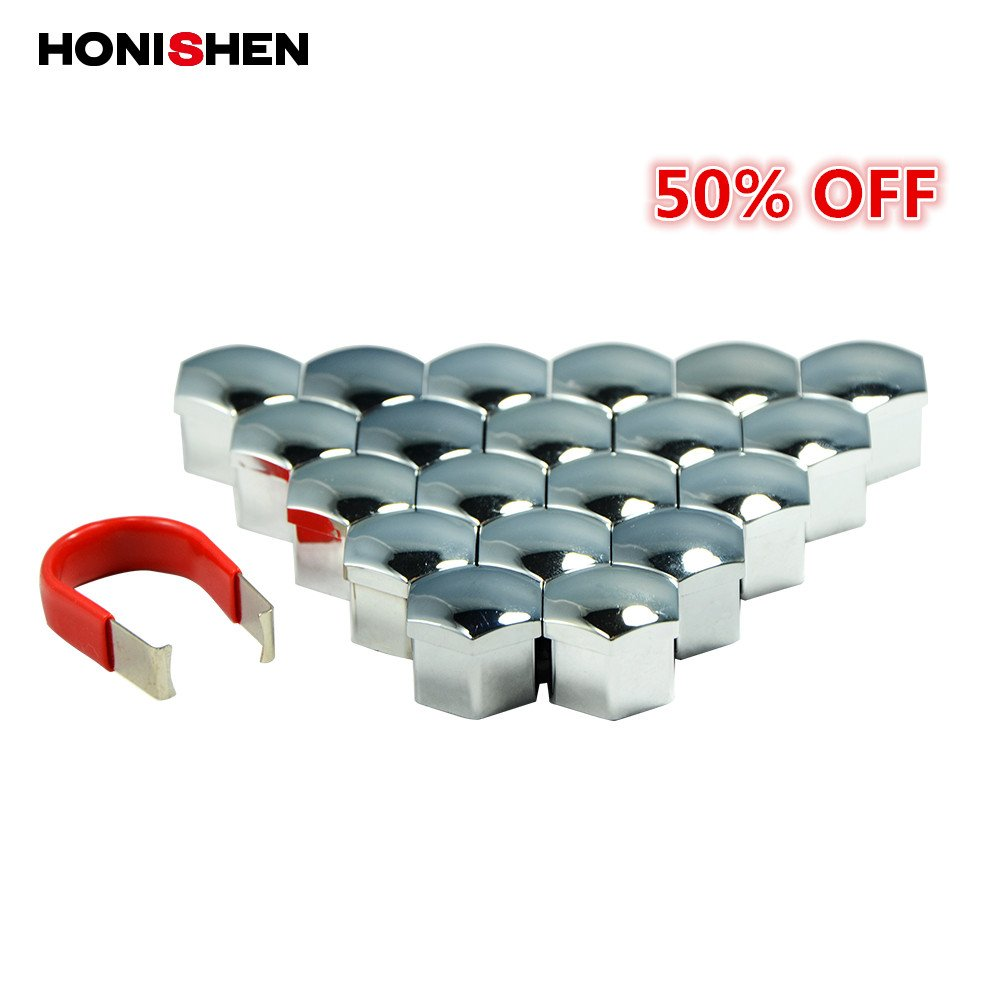Honishen 17mm Plastic Wheel Lug Nut Bolt Covers For BMW / VOLVO (17mm, red) Hongsheng Auto Accessory Inc