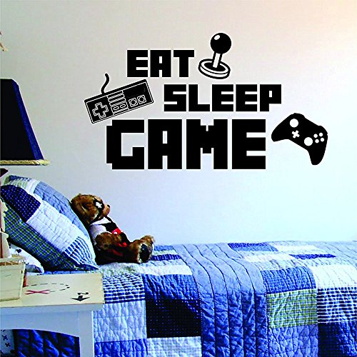 iMod Video Gamer Wall Decor Peel & Stick Poster Decals Eat Sleep Game Kids Room]()