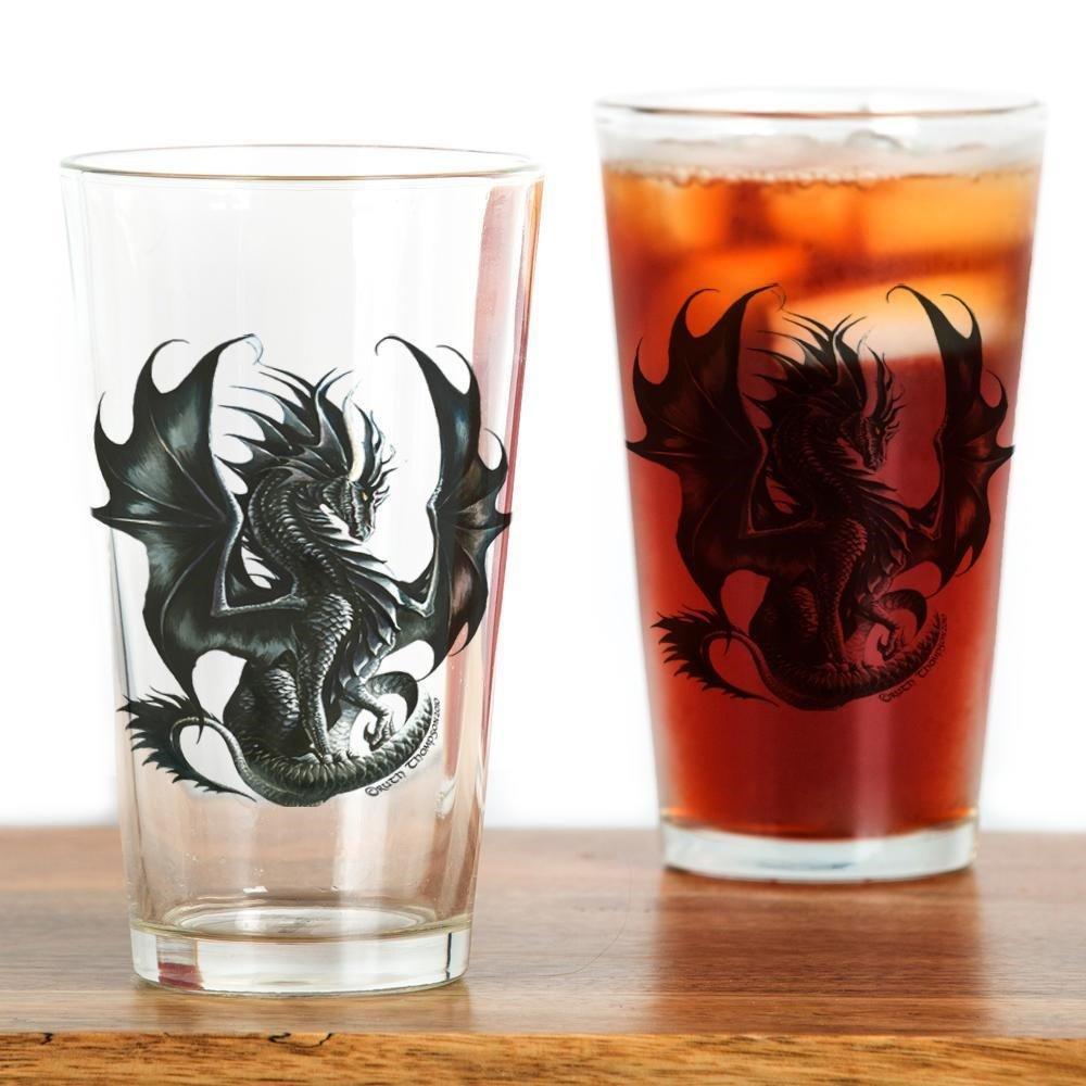 16 oz CafePress Ruth Thompsons Obsidian Dragon Pint Glass Drinking Glass