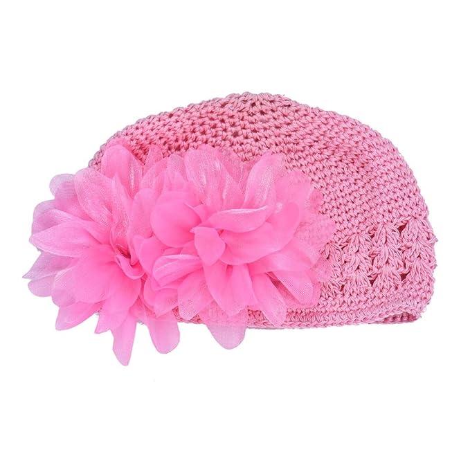Luckygirls Mütze Baby Kinder Mädchen Spitze Blume Haarband Stirnband