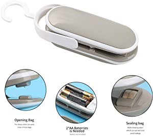 Jltech Portable Sealing Machine,Mini Bag Sealer,Handheld Heat Vacuum Sealers, 2 in 1 Heat Sealer and Cutter,Bag Sealer Heat Seal