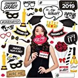 Joyousa Graduation Photo Booth Props Party Supplies 2019-38pcs Set - Class Decorations Party Favors Decor