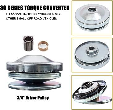 """30 Series Torque Converter Driver Clutch 3//4/"""" Bore Go Kart fits Comet 219552"""