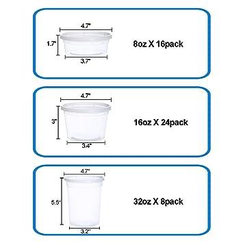 Pack de 48 recipientes de almacenamiento de alimentos con tapas ...