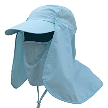 03aad712647 Wongfon Fishing Hats 360 UV Protection Summer Outdoor Sun Cap Neck Protection  Outdoor Sports Cycling Motorcycle Quick-drying Cap  Amazon.co.uk  Sports    ...