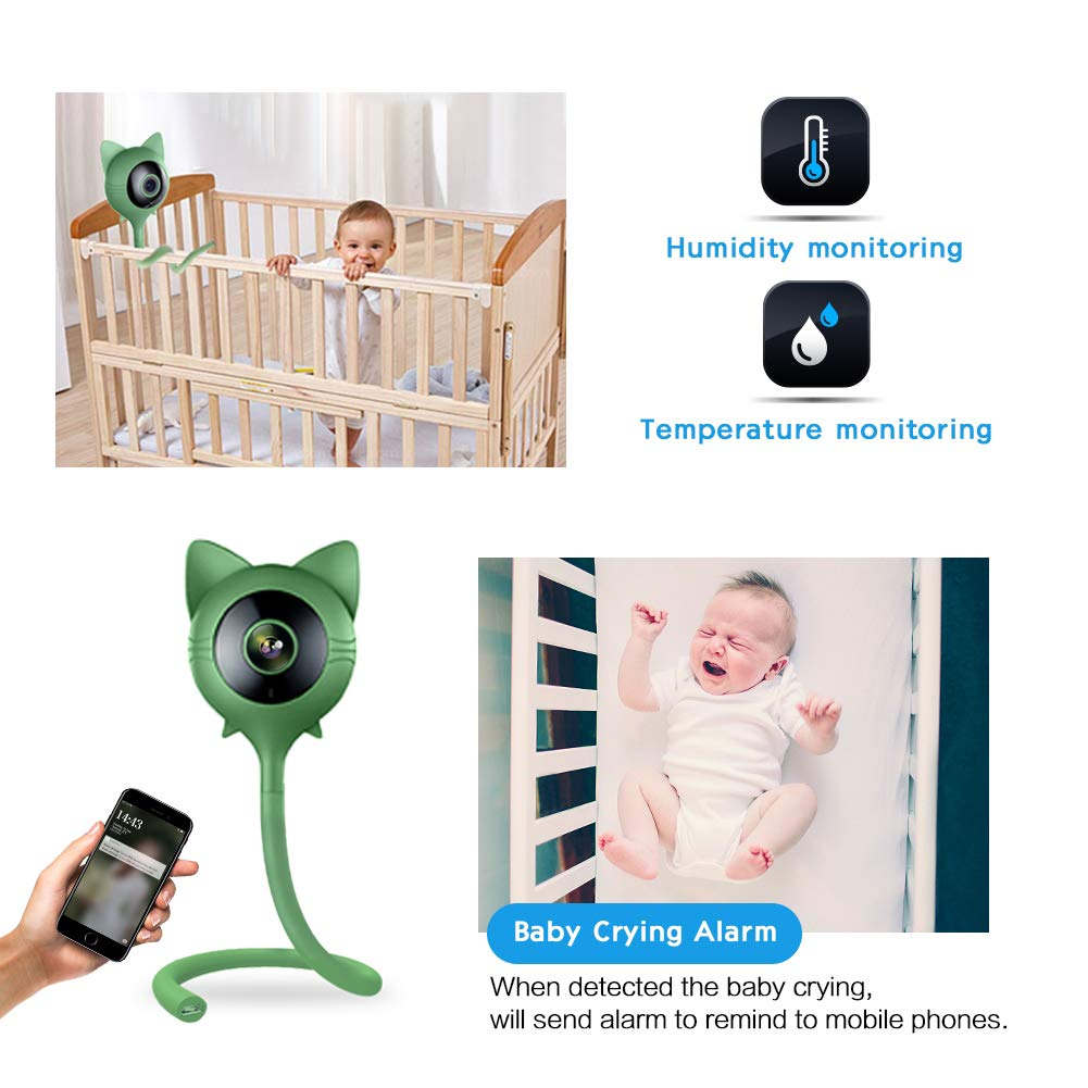 Amazon Com Janedi Wifi Baby Monitor Camera With Temperature And