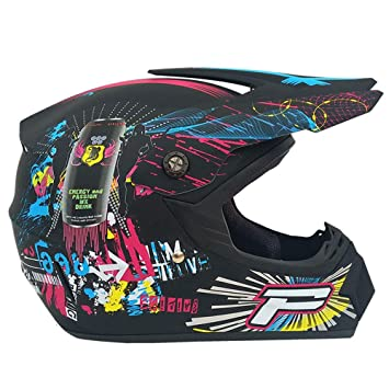 Adulto Motocross Casco MX Moto Casco ATV Scooter ATV Casco Gafas Máscaras Guantes Máscara (S