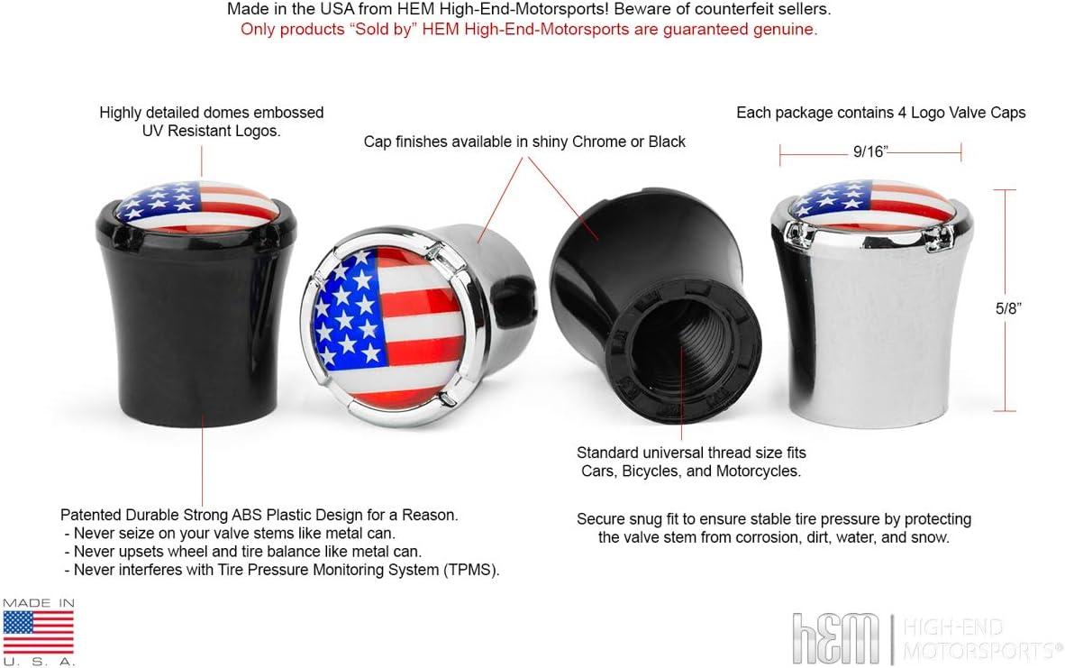 HEM HIGH-END MOTORSPORTS Chrome Tire Valve Stem Caps for Pontiac Vehicles Pontiac Arrow Logo Made in USA