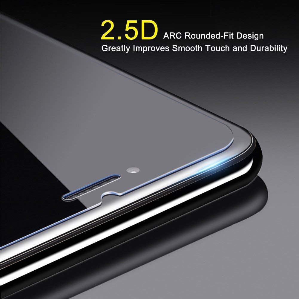 Installation Facile Duret/é 9H Ultra R/ésistant Protection en Verre Tremp/é /Écran sans Poussi/ère Ramcox Verre Tremp/é pour iPhone Se//iPhone 5 5s 1 Pi/èces