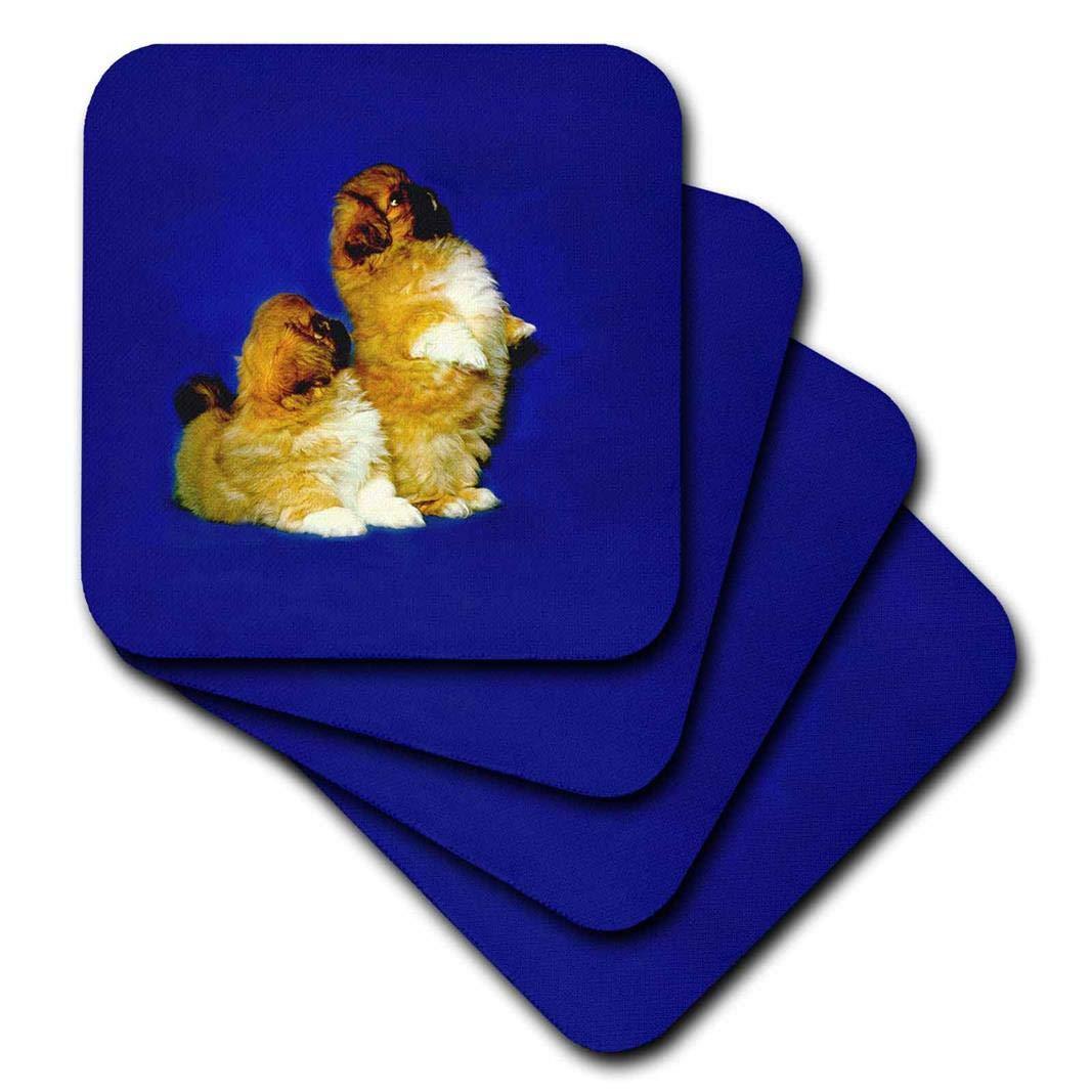 Set of 4 3dRose CST/_497/_3 Pekingese Ceramic Tile Coasters