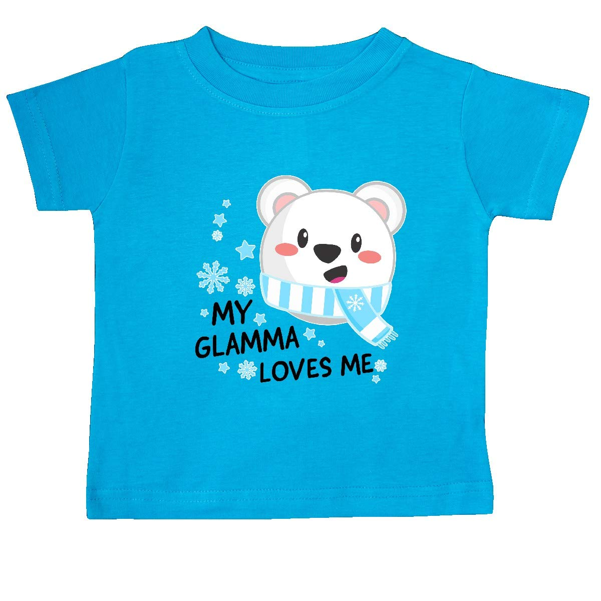 inktastic My Glamma Loves Me Polar Bear Baby T-Shirt
