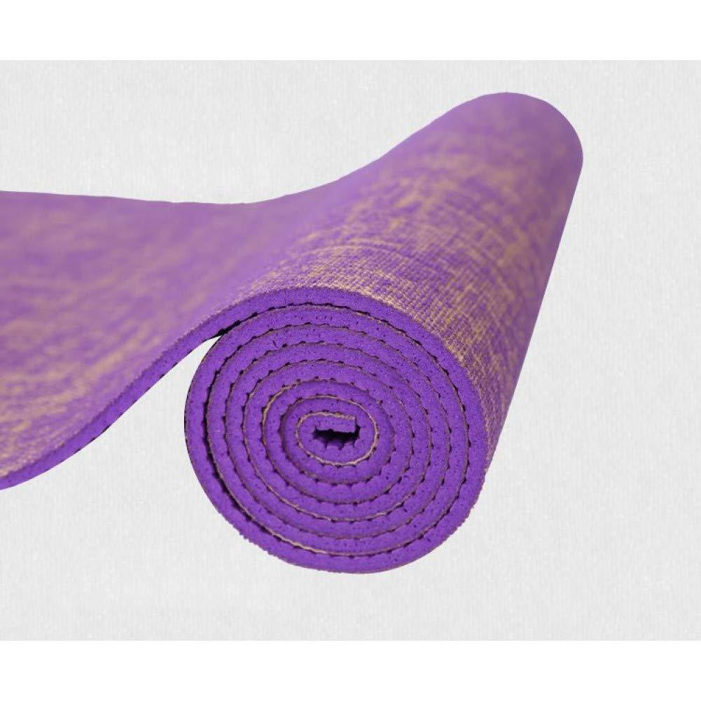 HYTGFR Natural Yute Yoga Pad Pad Eco amigable Reversible ...