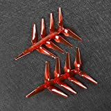#5: Emax Avan Flow 5043 Propeller 5 inch 3-blade CW CCW Propellers for FPV Racing Drone Multirotor Quadcopter (Transparent red)(8pcs)