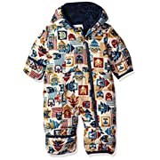 Columbia Baby Girls' Frosty Freeze Bunting, Collegiate Navy Critter Blocks, 3-6 Months