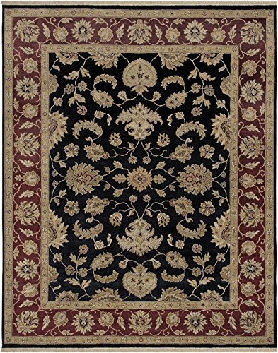 AMER Luxor 39 Hand-Knotted Area Rug, 8x10, Midnight Moon Midnight Red Area Rugs