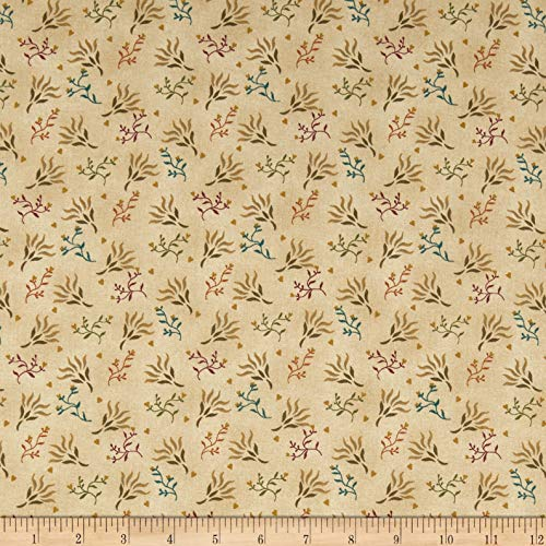 Henry Glass & Co. Henry Glass Spiced 108'' Quilt Back Seaweed Fabric, 1, Beige, Fabric by the Yard