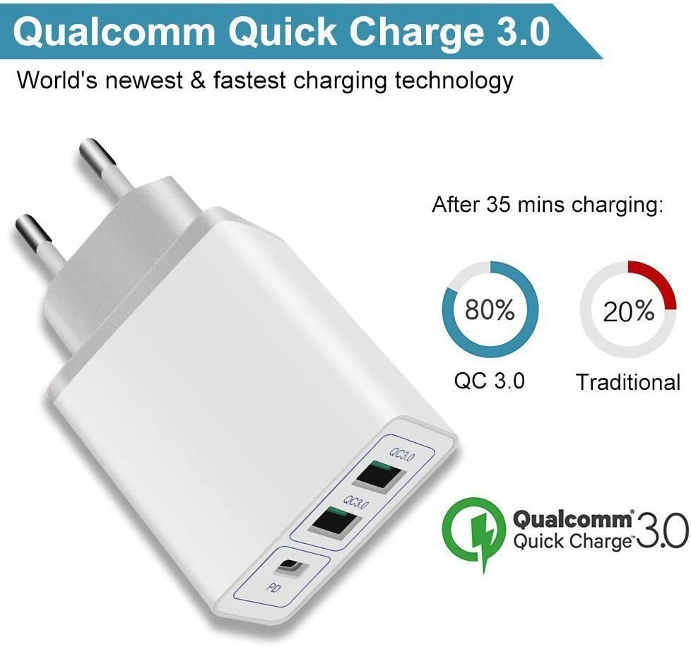 2qc Pd Usb C Ladegerät 36w Quick Charger Elektronik