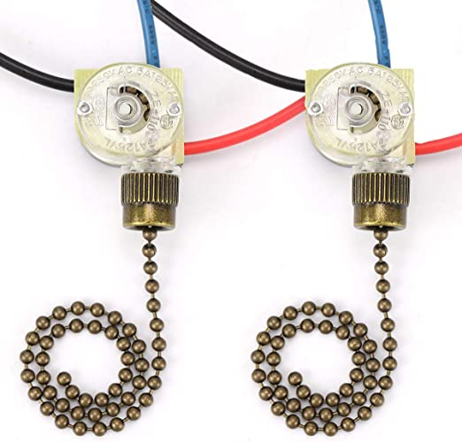 Ceiling Fan Switch Hunter 3 Way 3-Wire Replacement Zing Ear ... on