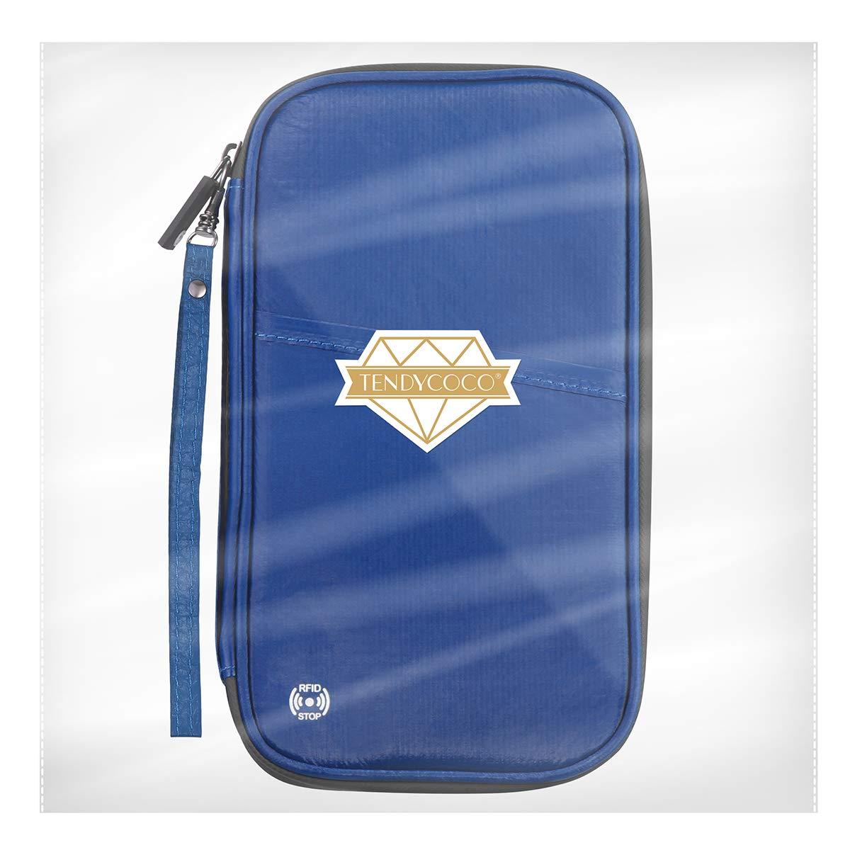 c03957513e60 TENDYCOCO Passport Wallet Family RFID Blocking Travel Wallet ...