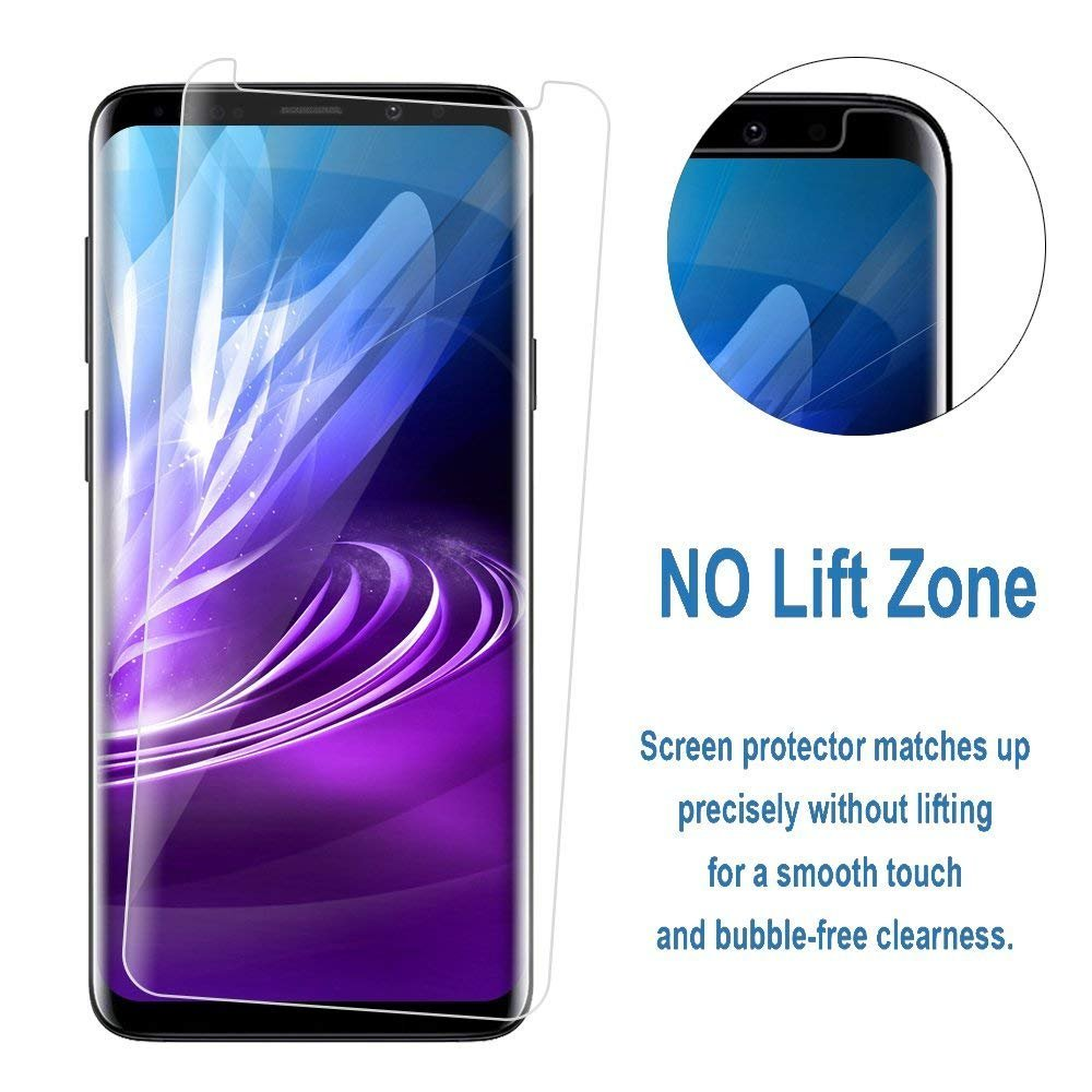 LEDitBe For Samsung Galaxy S9 Screen Protector, [2 Pack][3D Curved Tempered Glass] [Case Friendly] [Full Coverage][Anti-scratch][Bubble-Free] Screen protector Film for Samsung Galaxy S9[Clear] by LEDitBe (Image #3)