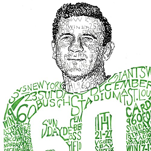Chuck Bednarik 1960 Champions Word Art Poster - Philadelphia Eagles - Handwritten with ever