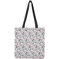 POLERO - Bolsa de la compra de lona de algodón, con estampado de dibujos animados de enfermeras, para niñas, mujeres…