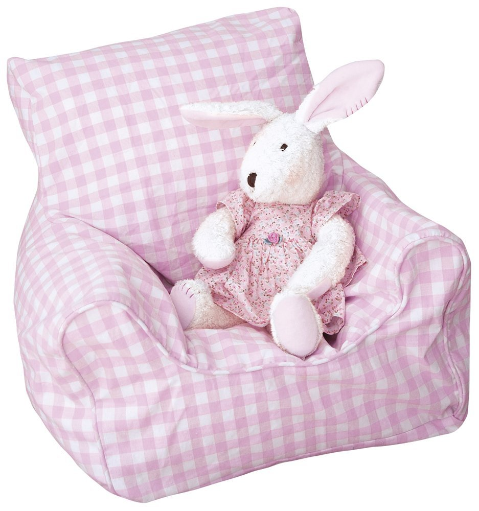 Amazon.com: JOJO maman bebe Puf y Cover- Rosa Gingham: Baby
