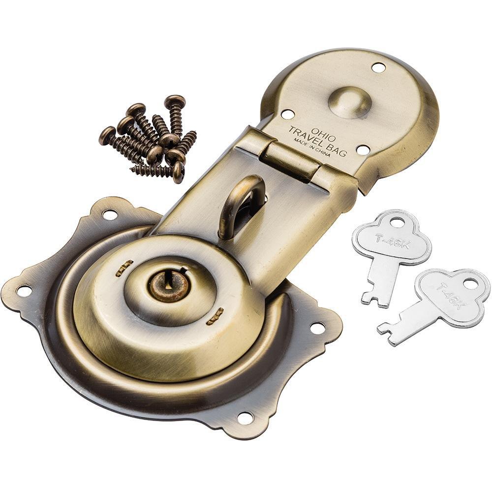 Antique Brass Figure 8 Trunk Lock Rockler Woodworking and Hardware