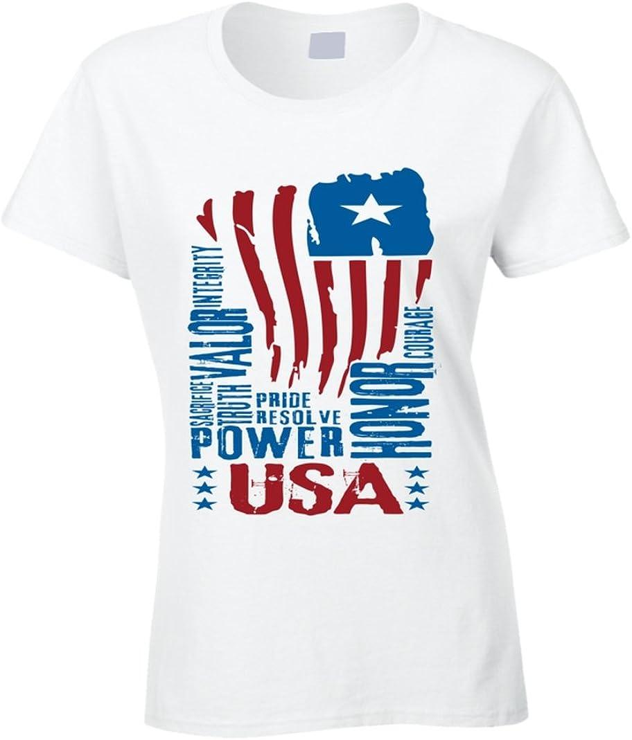 South Beach de la mujer camiseta de Estados Unidos de bandera norteamericana: Amazon.es: Ropa y accesorios