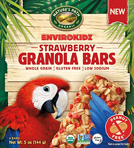 Envirokidz Organic Gluten-Free Whole Grain Granola Bars, Strawberry, 5 Ounce