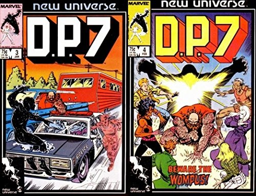 D.P.7#3-4 (1986-1989) Limited Series Marvel Comics - 2 Comics