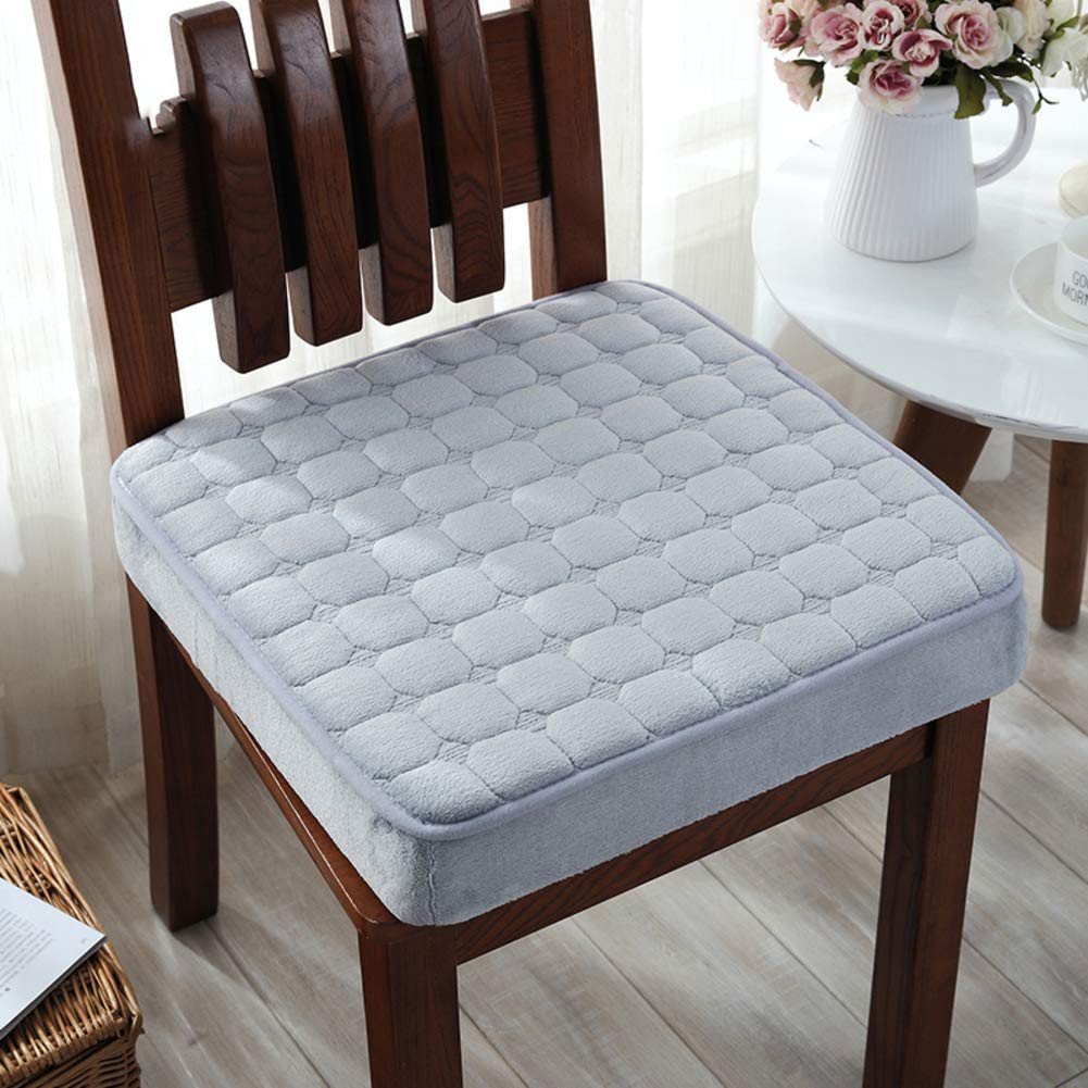 YXDDG Indoor Home Chair Cushion Square Cotton Chair Cushion Washable, Beautiful, Comfortable, 9 Colors,Suitable for dinette-Gray 40x40cm(16x16inch)