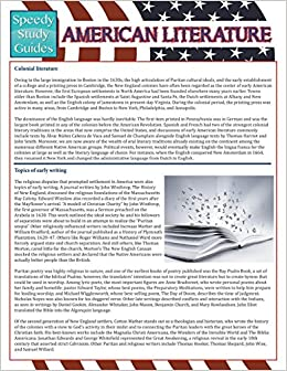 Book American Literature (Speedy Study Guides)
