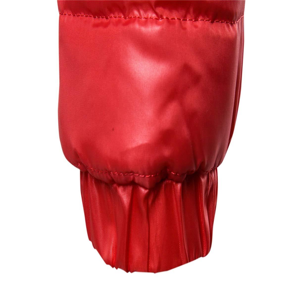 Hombre Chaqueta de oto/ño Invierno Chaquetas de Pluma Hombres Stand Collat Ultra Ligero C/álido Outwear Abrigo Parkas al Aire Libre