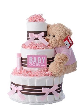 Amazon diaper cake darling girl theme handmade by lil baby diaper cake darling girl theme handmade by lil baby cakes baby girl gift reheart Choice Image