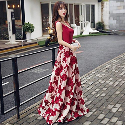 Bankett Hochzeit Lange War Kleid Abendkleid Frühling Hochzeit Host Braut Toast S Dünne DHG Hochzeit Ein w40vqxAA