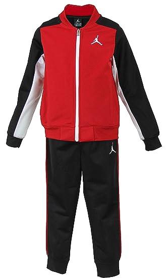 a13873f3c0cd NIKE Air Jordan Toddler Boys Tracksuit Jacket   Pants Set - Black Gym Red  (2T)  Amazon.in  Baby