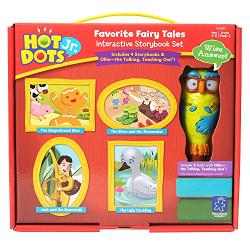 Educational Insights Hot Dots Jr. Favorite Fairy Tales Interactive Sets with Ollie Pen (Fairy Tales For Boys)