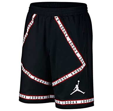c8ee2079711 NIKE Air Jordan HBR Taping Men's Basketball Shorts (Medium, Black/White)