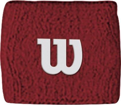 MUÑEQUERA WILSON ROJA CON LOGO WRISTBAND