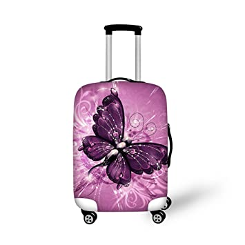 3216069f576d CHAQLIN Fink Butterfly Print Brand New Spandex Travel Luggage Protector Fit  22-250 Inch Luggage